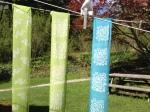 Katazome scarves - silk
