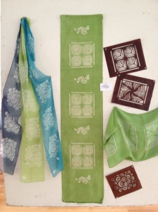 Silk Scarves and Stencils