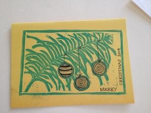 Yellow Zen Christmas Card