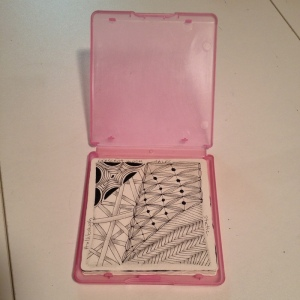Zentangle Tile Holder - Open