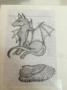 Artwork, Bonnie, Winged Dog